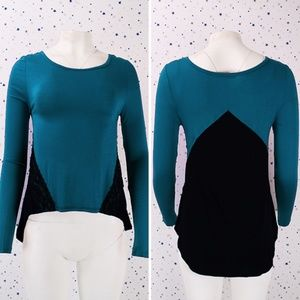 Color Block Long Sleeve Knit Top